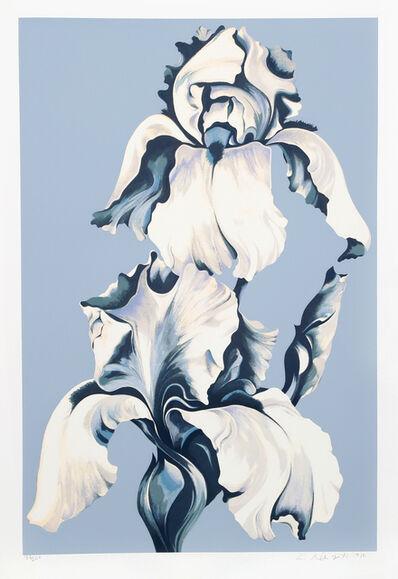 Lowell Nesbitt, 'White Irises on Blue', 1980
