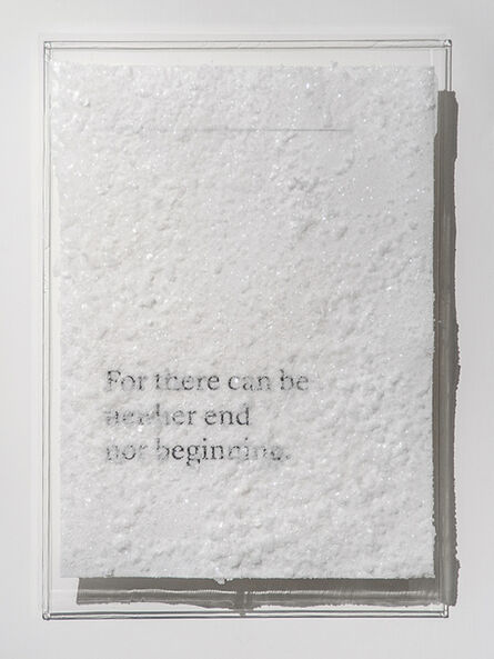 Cédric Maridet, 'For there can be neither end nor beginning.', 2016