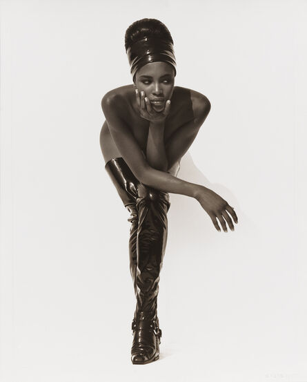 Herb Ritts, 'Naomi Campbell, Face in Hand, Hollywood', 1990