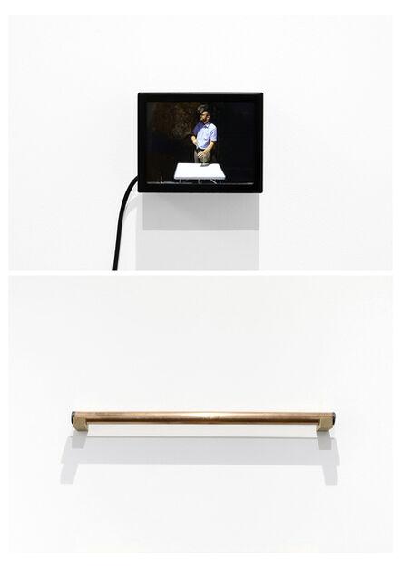Giuseppe De Mattia, 'Disegni segreti - Bar della pace - Guardando a destra, Roma-Bologna (Lightboxe + Tube)', 2017
