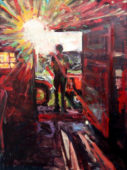 Miguel Ángel Garrido, 'Tractor a la puerta', 2015