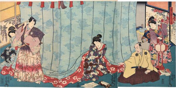 Utagawa Toyokuni III (Utagawa Kunisada), 'Ashikaga Pictures of the Twelve Months: Sixth Month', ca. 1849-51