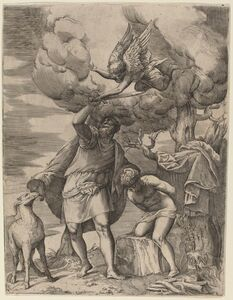 Battista Franco, 'The Sacrifice of Abraham', 1540s/ 1550s