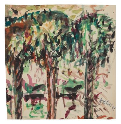 Fritz Ascher, 'Three Trees', 1959