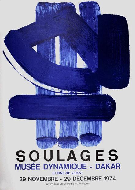 Pierre Soulages, 'Musée Dynamique-Dakar, 1974 - Original lithographic poster', 1974