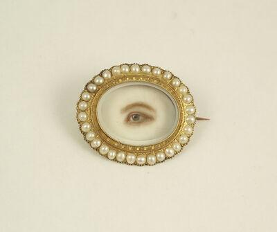 'Brooch with Eye Miniature', ca. 1845