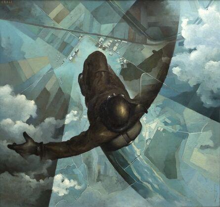 Tullio Crali, 'Before the Parachute Opens (Prima che si apra il paracadute)', 1939