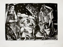 Pablo Picasso, 'Blind Minotaur Led by Girl in Night w/Dove', 1990