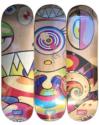 Takashi Murakami, 'Original drawing w/Skateboard set of 3', 2019