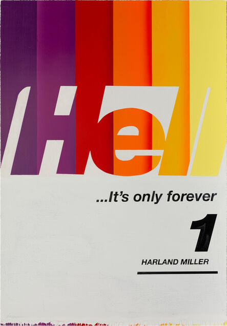 Harland Miller, 'Hell... It's Only Forever 1', 2020