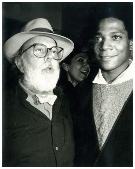 Andy Warhol, 'Andy Warhol, Photograph of Henry Geldzahler and Jean-Michel Basquiat circa 1984', ca. 1984