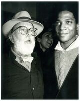 Andy Warhol, 'Andy Warhol, Photograph of Henry Geldzahler and Jean-Michel Basquiat circa 1984', ca. 1984