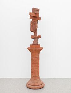 Robert Arneson, 'Untitled (Brick Self-Portrait on Pedastal)', 1981