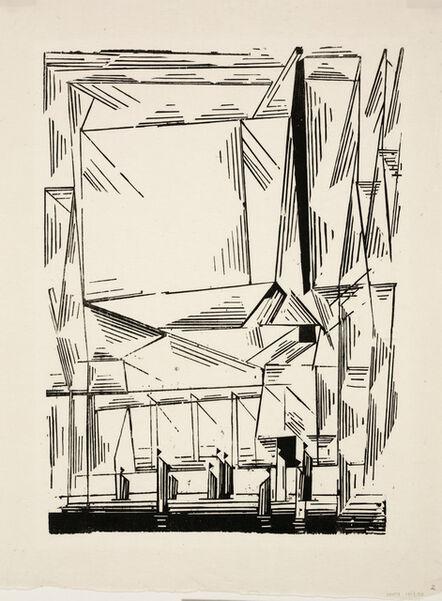 Lyonel Feininger, 'Gelmeroda', 1920