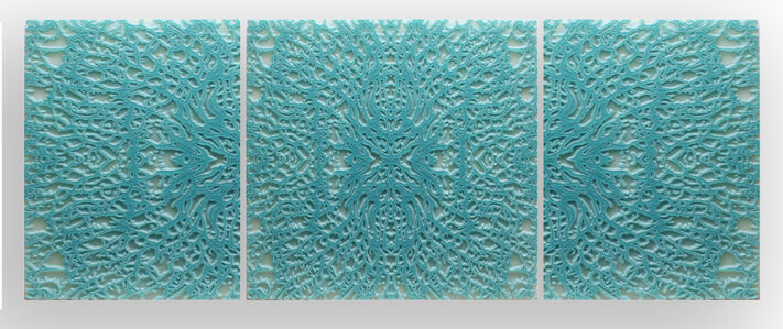 Lawrence Morrell, 'Georgian Coral VII (turquoise triptych)'