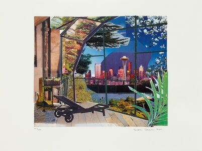 Dexter Dalwood, 'Kurt Cobain's Greenhouse', 2001