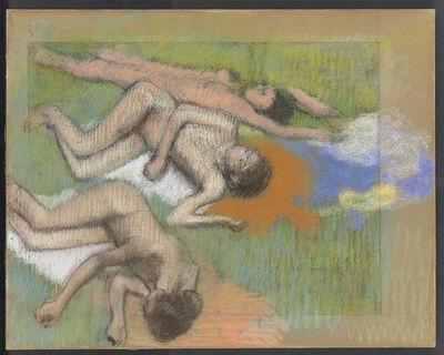 Edgar Degas, 'After the Bath, Three Nude Women', ca. 1895