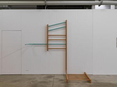 Ingrid Hora, 'Freizeyt, Sprossenwand/Der Grillentöter', 2015