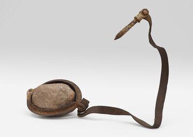 Robert Rauschenberg, 'Untitled (Elemental Sculpture) [steel flange and stone]', ca. 1953
