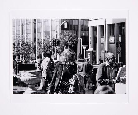 Lynn Hershman Leeson, 'Roberta Walking with Preacher (San Diego), Front View', 1975