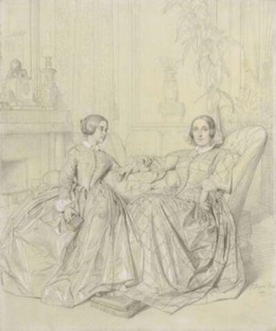 Jean-Auguste-Dominique Ingres, 'Comtesse Charles d'Agoult, née Marie d'Agoult, and her daughter Claire d'Agoult', 1849