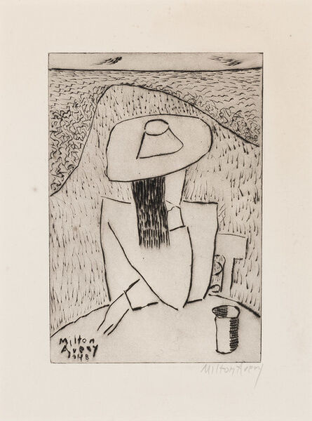 Milton Avery, 'March At A Table (Lunn 28)', 1948