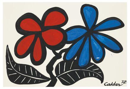 Alexander Calder, 'Black Leafed Flowers', 1972