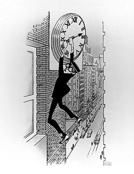 """Al Hirschfeld, '""""Harold Lloyd: Safety Last""""', 1992"""