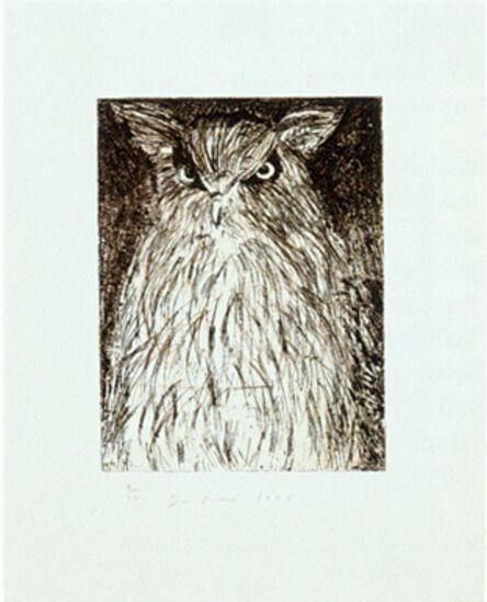 Jim Dine, '9 Studies for Winter Dream (Owl)', 1994