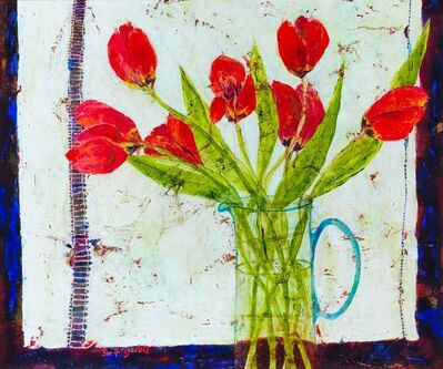 Sue Fitzgerald, 'Tulips and Linen', 2017