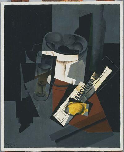 Juan Gris, 'Still Life with Newspaper', 1916