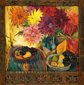 Irma Stern, 'Still Life with Fruit and Dahlias', 1946