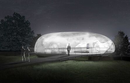 Smiljan Radić, 'Serpentine Galleries Pavilion, Indicative CGI, night', 2014