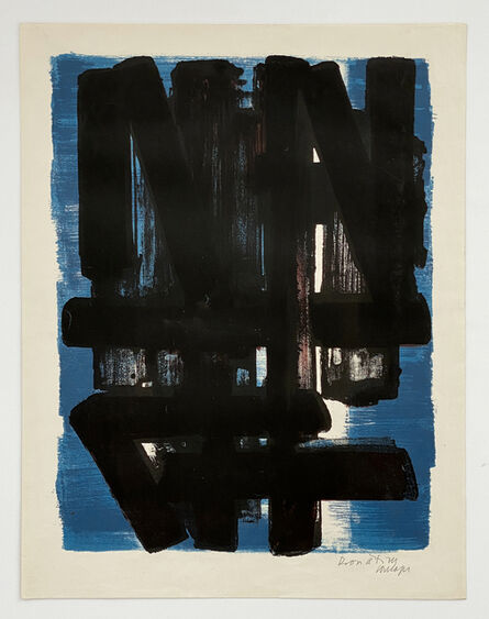 Pierre Soulages, 'Lithographie n° 5', 1957