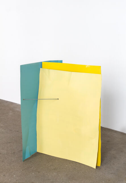 Michael Kienzer, 'Türkisblau/Rapsgelb/Zinkgelb (Flyer 3-teilig)', 2016-2018