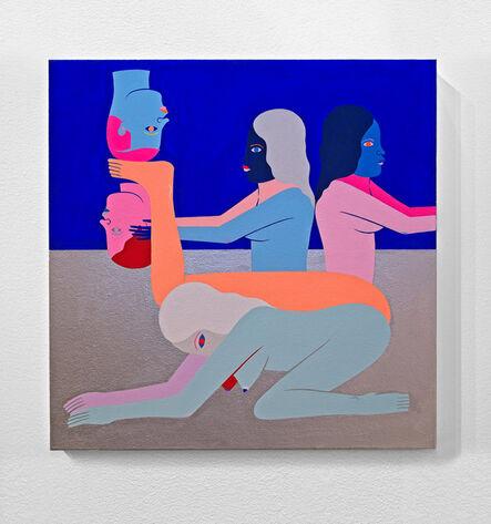Richard Colman, 'Pedistal (With Two Figures)', 2019
