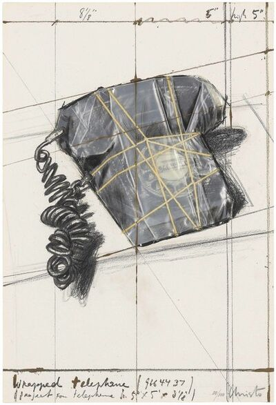 Christo and Jeanne-Claude, 'Wrapped Telephone, Project, from: 12 Years of Galeria Joan Prats, 1976-1988', 1988