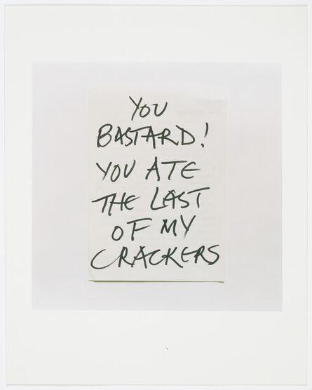 Keith Arnatt, 'Notes from Jo', 1991-1995