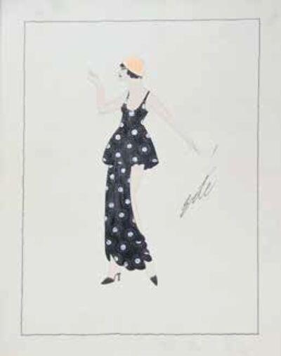 Erté (Romain de Tirtoff), 'Femme le bras levé, étude de costume'