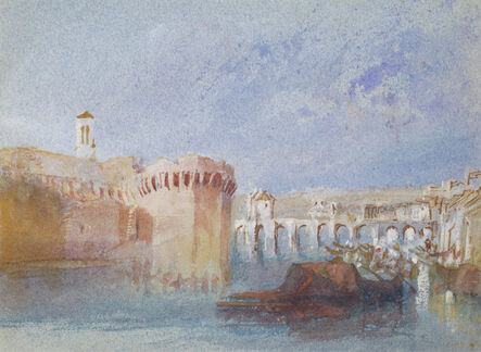 J. M. W. Turner, 'Angers: The Walls of the Doutre with the Tower of the Chu', ca. 1826