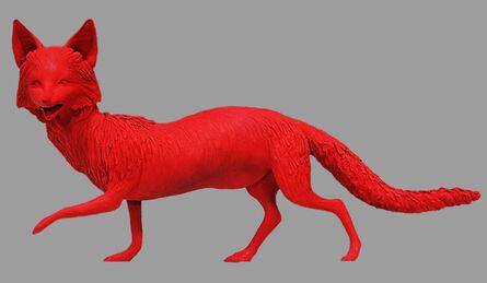 """Sandy Skoglund, 'Fox from """"The Grey Foxes""""', 1989"""