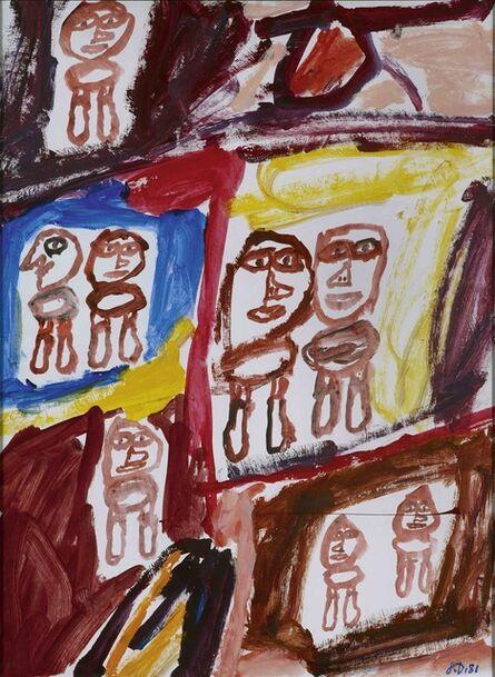 Jean Dubuffet, 'Site avec 8 personnages, E 173, 13 juin 1981', 1981