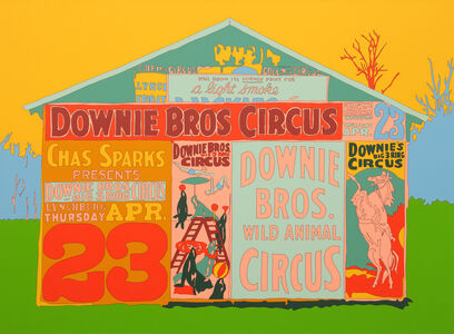 Francis Ruyter, 'Walker Evans [Posters covering a building near Lynchburg to advertise a Downie Bros. circus]', 2013