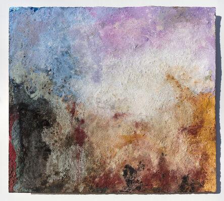 Orazio De Gennaro, 'Terra Bruciata (Scorched Earth) #57 - Small Purple and Blue Abstract Landscape', 2016