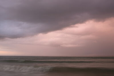 Donald Weber, 'Omaha Beach, Sector Charlie. October 4, 2013, 6:38pm. 17 Celsius, 88% RELH, Wind WSW, 8 Knots. VIS: Poor, Thunderstorm', 2013
