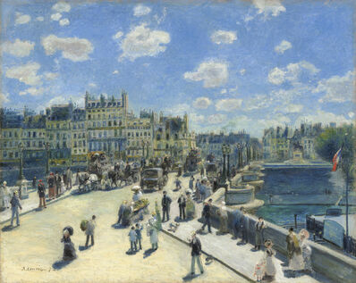 Pierre-Auguste Renoir, 'Pont Neuf, Paris', 1872