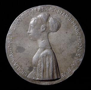 Pisanello, 'Cecilia Gonzaga, 1426-1451, daughter of Gianfrancesco I [obverse]', 1447