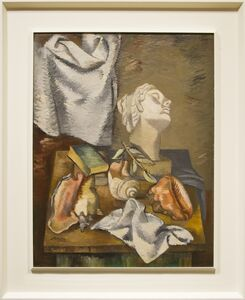 Jan Matulka, 'Still Life with Shells and Classical Head', 1935