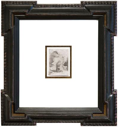 Rembrandt van Rijn, 'St. Jerome Praying: Arched Print', 1632