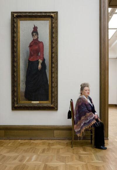 Andy Freeberg, 'Guardians: Repin's Portrait of Baroness von Hildenbandt, State Tretyakov Gallery', 2008
